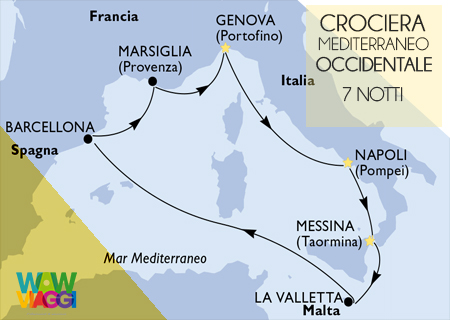 MSC BELLISSIMA - CROCIERA MEDITERRANEO OCCIDENTALE  GENOVA - OFFERTA MSC CROCIERE 2019