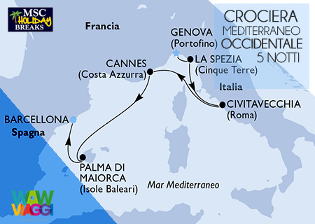 HOLIDAY BREAKS MSC SEAVIEW - CROCIERA MEDITERRANEO OCCIDENTALE DA GENOVA A BARCELLONA - OFFERTA MSC CROCIERE 2019