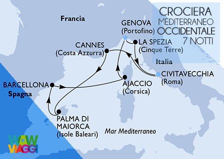 MSC SEAVIEW - CROCIERA MEDITERRANEO OCCIDENTALE  CIVITAVECCHIA - OFFERTA MSC CROCIERE 2019