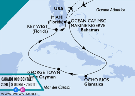 Msc Armonia - Crociera Caraibi Occidentali 2 da Miami - offerta Msc crociere 2020 2021